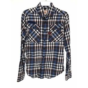 G Star Raw Mens Aero Phantom Check Button Up
